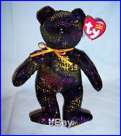Ty Signed Billionaire Bear 19 #'d/400 Mwmt Rare