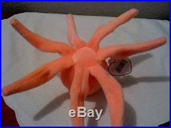 Ty Ultra Rare 7 Legged Inky Octopus Beanie Baby. Collectors Item