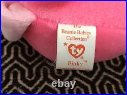 Ty beanie babies Pinky the flamingo 1995 Rare Retired With Tags PINKY