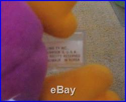 ULTRA RARE Authenticated Ty Deep Fuchsia Patti KOREAN Beanie Baby Korea 1st Tush