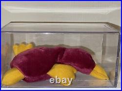 Ultra-Rare Authenticated TY Patti Raspberry Korean 1st Gen /First Gen! Orig 9