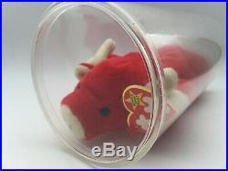 Ultra Rare BEANIE BABY Snort The Bull Vintage 1995 Tag Errors PVC