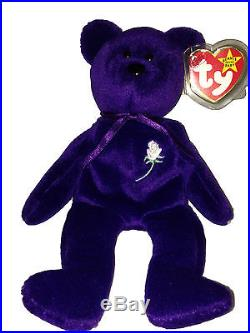 Ultra Rare TY Princess Diana Beanie Baby, MINT Condition Swing Tag