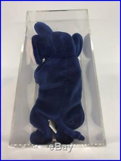 Ultra Rare Ty ROYAL BLUE PEANUT The Elephant Beanie Baby 3rd / 1st Gen MWMT MQ