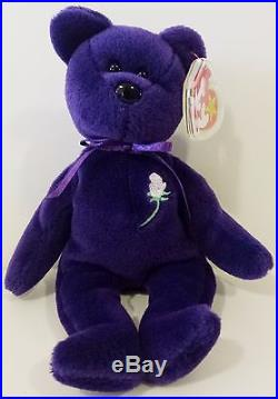 VERY RARE 1st EDITION PVC PRINCESS (Diana) Bear 1997 Ty Beanie Baby MINT ffa3ae24eac