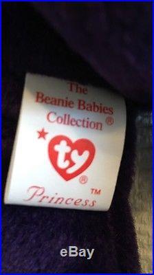 VERY RARE PRINCESS DIANA 1st Edition Beanie Baby MINT CONDITION! PVC PELLETS