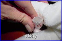 VERY RARE Valentino Ty Beanie Baby MINT Tag with 2 Misspellings, NO # & PVC