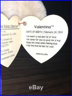 Valentino Beanie Baby with Multiple Tag Errors Rare