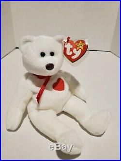 Valentino Ty beanie baby with rare mismatched tags. Ty tag 1994, tush tag 1993
