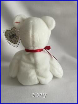 Valentino bear beanie baby TY with errors RARE brown nose, MINT Condition