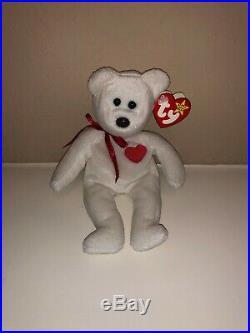 Valentino the Bear TY Valentino Bear Beanie Baby Rare tag errors! Vintage 1994