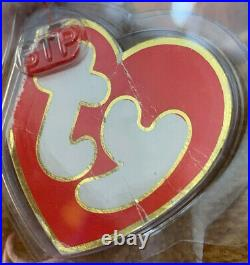 Very RARE Authenticated Ty 3rd Gen NIP All Gold Beanie Baby