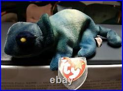 Very Rare Rainbow Ty Beanie Baby 1997 Retired Rare Tie Dye Green Colored body