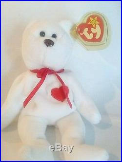55e33461fbe Very Rare Ty Valentino beanie baby misspelled tag and PVC pellets ...