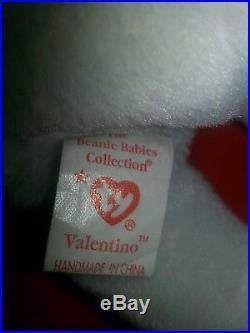Very Rare Vintage Valentino Beanie Baby-2 Mispelled & Mistake Tag & No Stamp