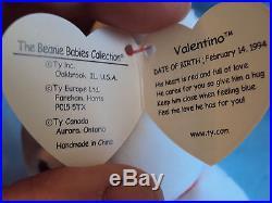 Very Rare Vintage Valentino Beanie Baby-Mispelled Tag and PVC