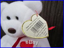 Vintage 1993 Valentino ORIGIINAL 1999 Valentina TY Beanie Babies Rare 2 Bear Lot