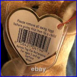 Vintage RARE Ty Beanie Baby Whisper Original P. E. Pellets 1997/1998 TAG ERRORS