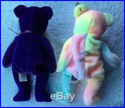 Vintage Rare 1997 TY Princess Diana BEANIE ORIGINAL BABY & 1999 TY B. B. BEAR