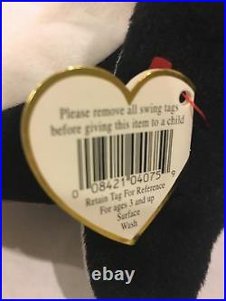 Waddle The Penguin Ty Beanie Baby Style 4075. He Is Rare, Original and New